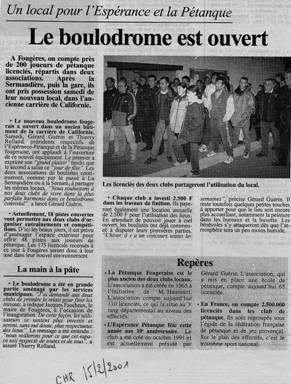 Petanque boulodrome